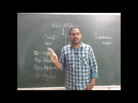 SSC CGL - 2016 Orientation In Telugu by Mr.Pradeep.For SSC-CGL/CHSL  in Telugu