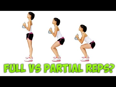 Full Range of Motion ROM vs Partial Half Reps for increasing & building Strength, Power & Size?