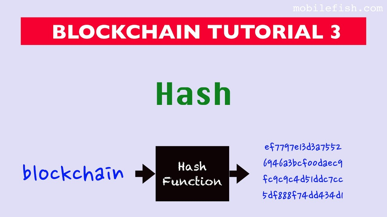 Blockchain tutorial 3: Hash