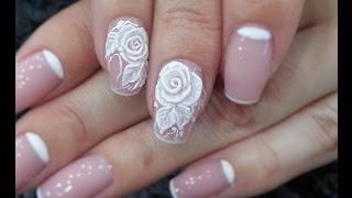 Дизайн ногтей. Лепка 4Dгелем Роза