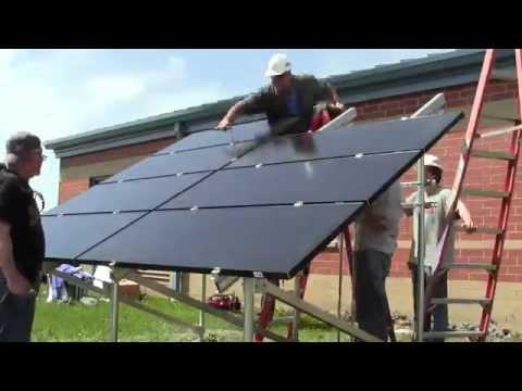 Solar Array Timelapse   KCC Renewable Energy