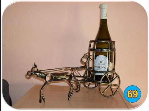 Making a horse and cart wine bottle holder