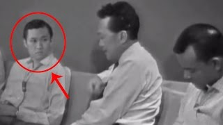 I looked carefully at the Lee Kuan Yew crying video from 1965 and I can