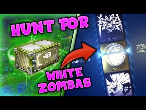 *OMG* IS THIS IT!?! - ON THE HUNT FOR TITANIUM WHITE ZOMBAS! - Rocket League CC4 Crate Opening
