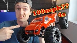 Traxxas Rustler VXL Hopups will it do 100mph on 4s Hobbywing