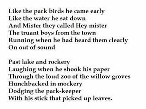 The Hunchback In The Park By Dylan Thomas Read By Tom Obedlam