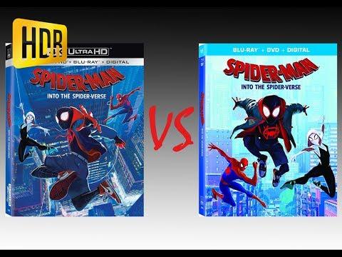 ▶ Comparison Of Spider-Man: Into The Spider-Verse 4K HDR10 (2K DI) Vs Regular Blu-Ray Edition
