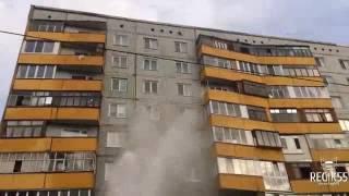 Прорвало трубу, Омск (20.09.2016)