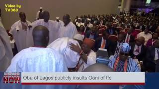 Trending: Oba Akiolu of Lagos snubs Ooni of Ife in public