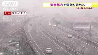 Repeat youtube video 東京都内で雪降り始める 通勤通学の方はご注意を・・・(15/02/17)