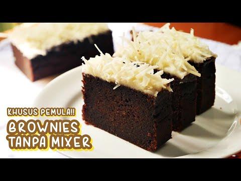 KHUSUS PEMULA!!! RESEP BROWNIES KUKUS TANPA MIXER SUPER SIMPEL