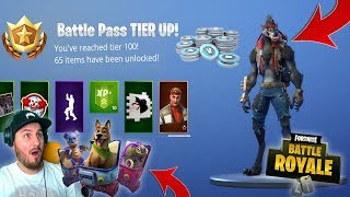 FORTNITE - BUYING EVERY SEASON 6 BATTLE PASS TIER, 1-100!!