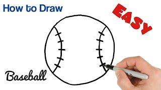 How to Draw a Baseball Easy Ball Drawing for Beginners