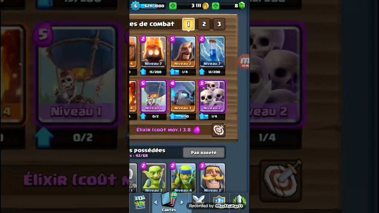 Clash royal deck ar ne 5 6 7 youtube for Deck arene 6 miroir