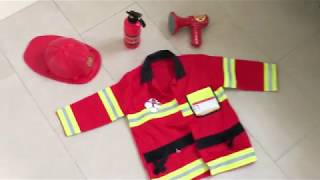 Melissa and Doug Firefighter Costume - Fireman