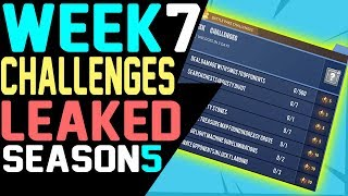 Fortnite WEEK 7 CHALLENGES LEAKED Season 5 ALL 7 Challenges GUIDE Battle Pass Challenges