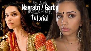 Tutorial | Deepika Padukone Inspired Ram Leela Style Navratri/Garba Makeup | Kaushal Beauty Thumbnail