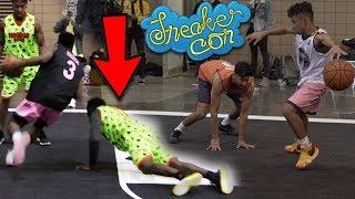 Julian Newman & Zion Harmon BREAKING ANKLES AT Sneaker Con GAMES!! DESTROYING DEFENDERS in Atlanta!!