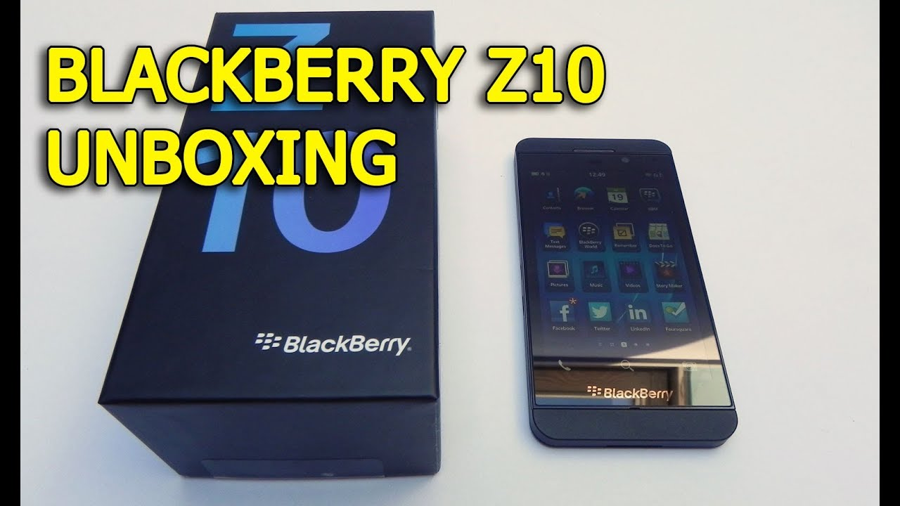 BlackBerry Z10 Unboxing: Beautiful Device and Box, Long