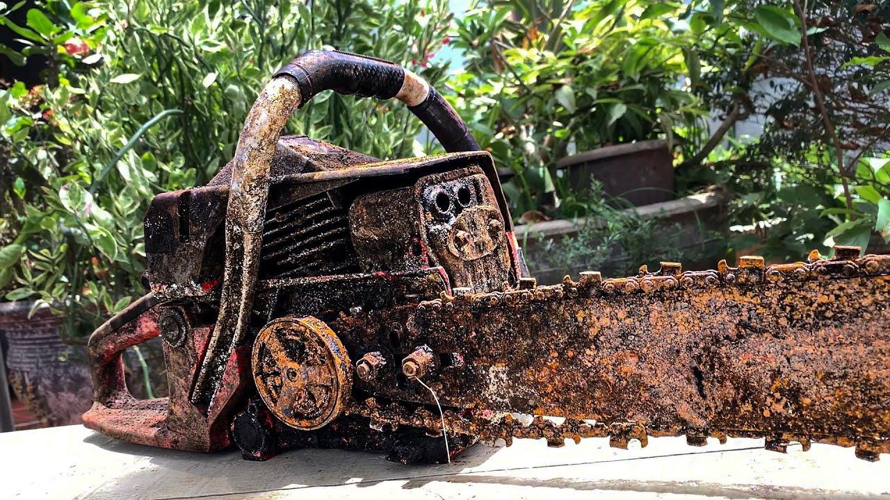 Restoration old rusty gasoline ChainSaw | Restoring 2-Stroke Petrol Chain Saw