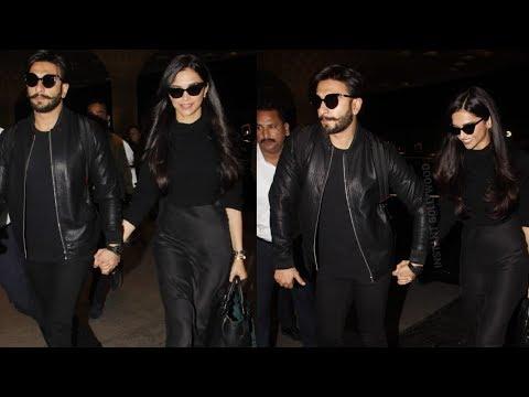 Deepika Padukone and Ranveer Singh looking so stunning leaving for their Honeymoon together