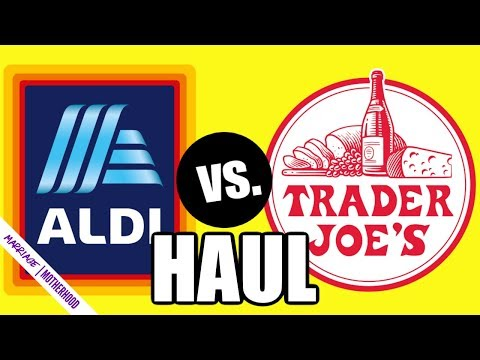 I am seriously falling in love with ALDI...here's why! Aldi Haul Trader Joe's haul SHOP WITH ME