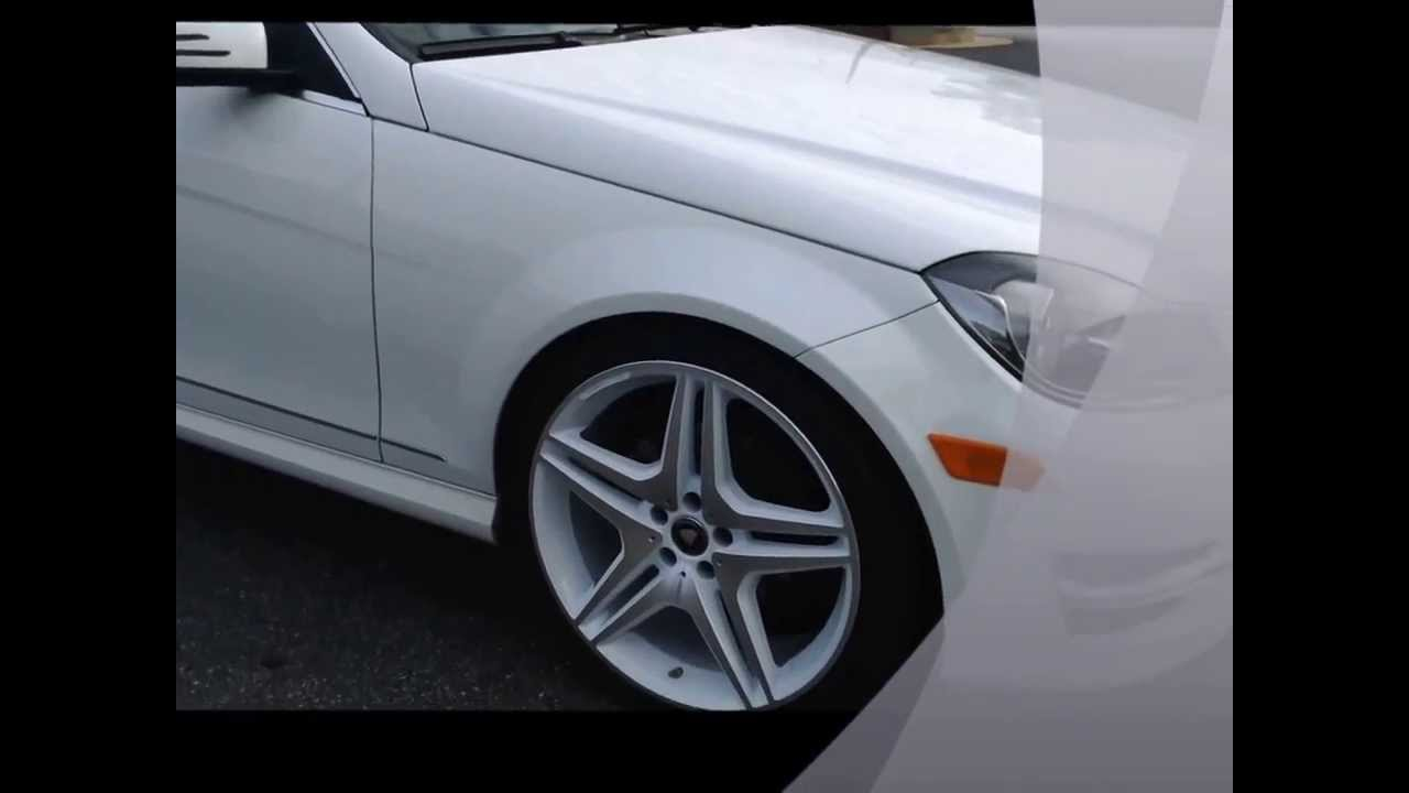 2013 mercedes benz c300 on 20inch amg 39 s rolling out of for Mercedes benz rims c300