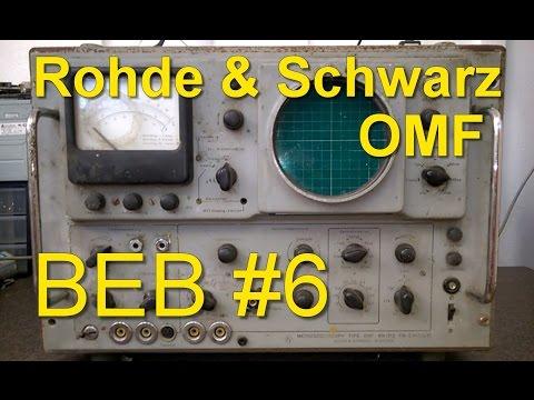 Rohde & Schwarz Vintage Oscilloscope OMF Teardown, Audio Tubes, Beautiful-Electronics Blog #6