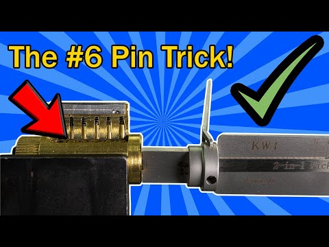 [391]The Kwikset KW1 & KW5 Lishi Just Got More Interesting! | The No. 6 Key Pin Trick!