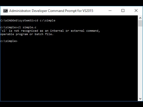 Run C Program In Command Prompt Youtube