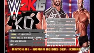 WWE 2K16 PS2 - Menus Preview