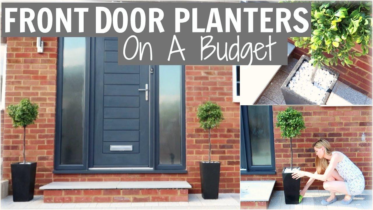 FRONT DOOR TALL MODERN PLANTS U0026 PLANTERS ON A BUDGET! | Alex Gladwin