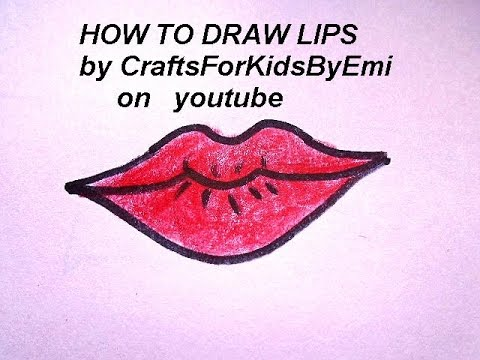 How To Draw Lips Easy Drawing Lessons For Kids Youtube