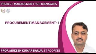 Procurement Management- I