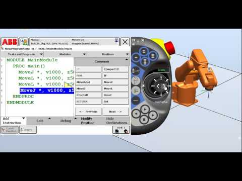 3. Creating a simple program using the pendant