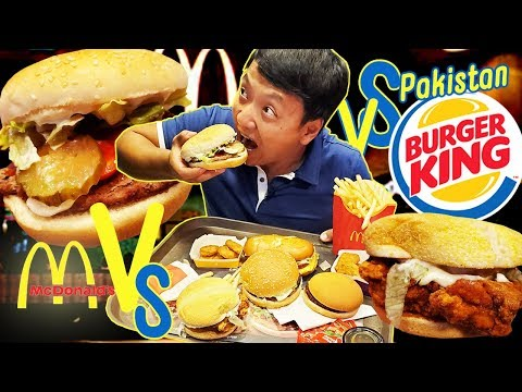 McDonald's VS. Burger King FAST FOOD in Pakistan & ANCIENT Himalayan Salt Mine! (PINK SALT)