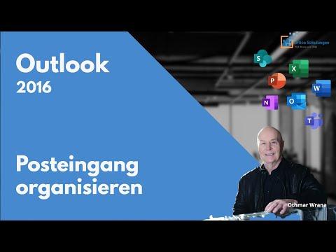 Posteingang Outlook 2016 organisieren