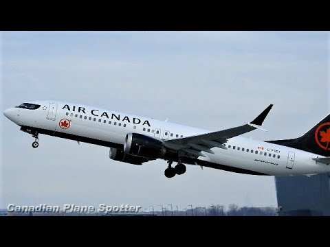 Air Canada 737-8 MAX Departing Montreal-Trudeau Int'l Airport
