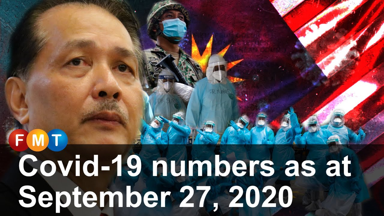 Covid-19 numbers as at September 27, 2020