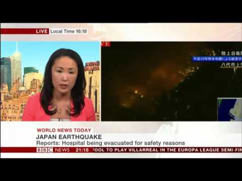 Japan Earthquake Report of Mariko Oi(BBC-World News Today)