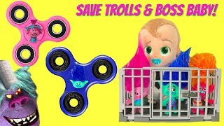 Trolls Movie Poppy Branch Boss Baby in Jail Save with FIDGET SPINNER