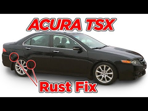 Acura TSX Rear Quarter Rust Repair Fix 2004-2008