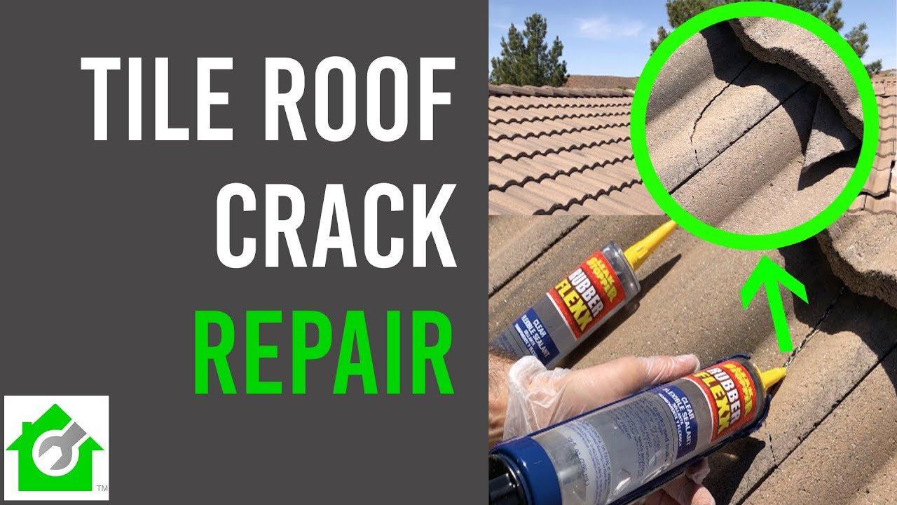 fix tile roof crack tile roof repair