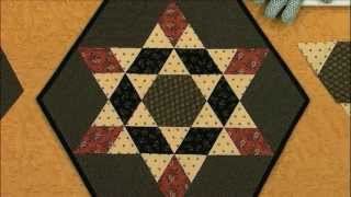 Make A Table Topper Quilt With Ozark Star Pattern
