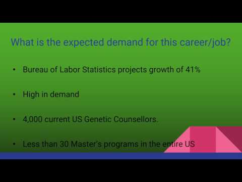 Genetic Counselor  A Career Presentation Take 2