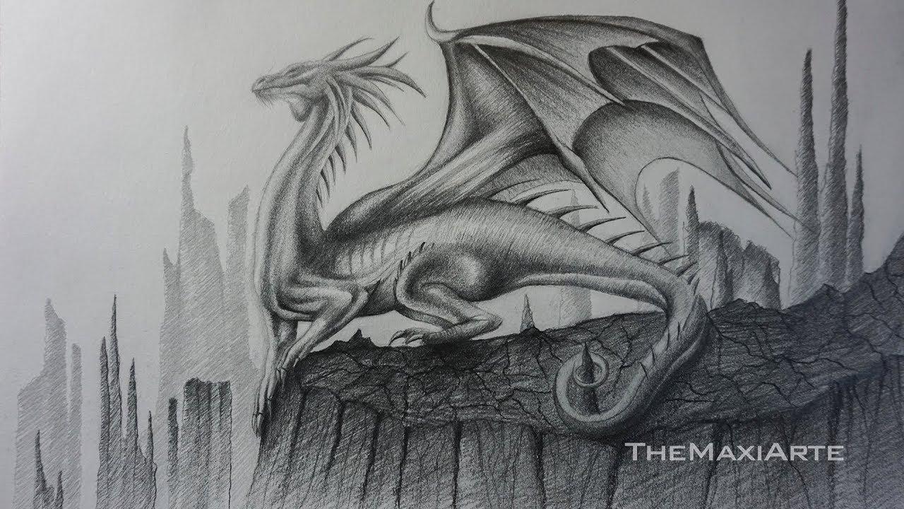 Famoso Dragón Realista Para Colorear Imprimible Friso - Dibujos Para ...