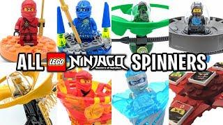 ALL 8 types of LEGO Ninjago Spinners - Evolution of Ninjago Spinners!