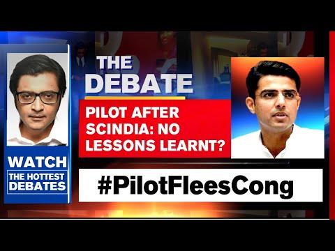 Rajasthan Crisis: Sachin Pilot All Set To Quit Congress? | The Debate With Arnab Goswami