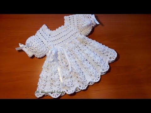 Como Tejer Un Vestido Bebe Recien Nacido A Crochet