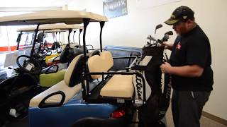 How to carry golf bags on a 4 passenger golf cart